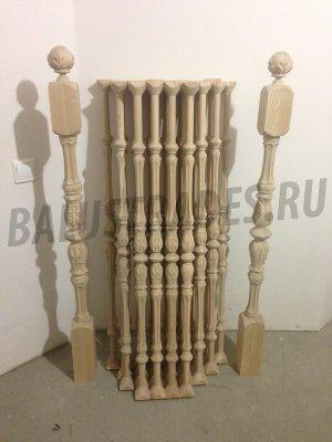 Балясины из дуба купить в Москве по доступной цене